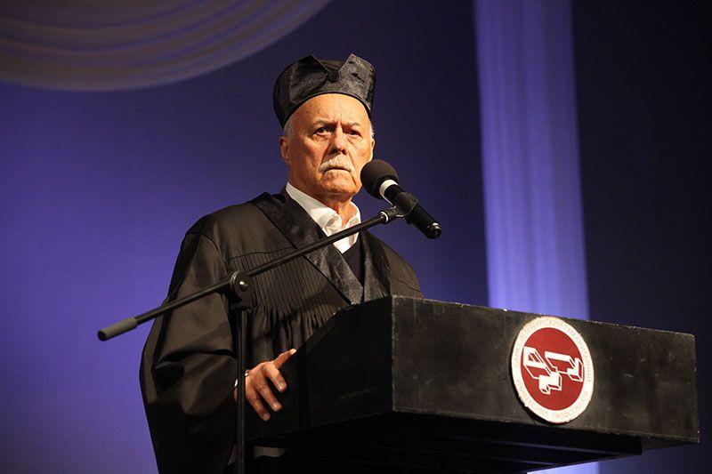 18 октября 2017 года. Народный артист России, кинорежиссер Станислав Говорухин стал 37-м Почетным доктором Университета